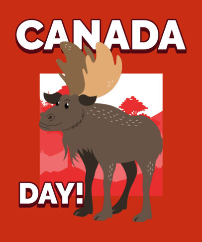 T-Shirt Design Maker for Canada Day Featuring Illustrated Wild Animals 3774