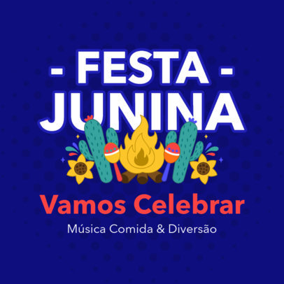 Instagram Post Creator Inviting to Celebrate Festa Junina 3715b