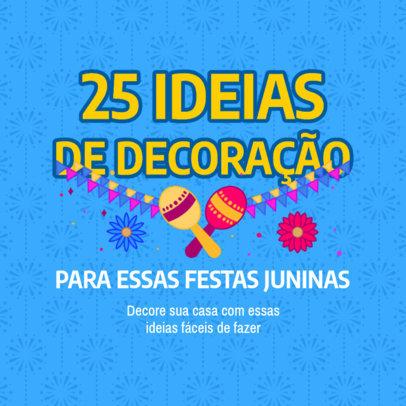 Instagram Post Maker to Share Ideas for Festa Junina Decorations 3715a