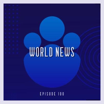 World News & Politics Podcast Cover Template 4398b