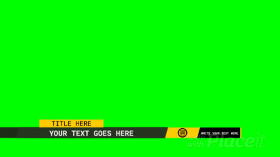 Lower Third Banner Video Maker Featuring Text and Logo 3016-el1