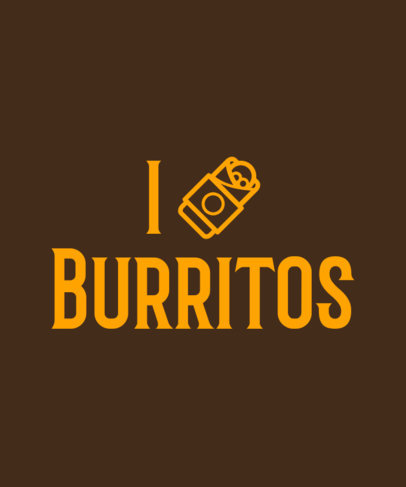 T-Shirt Design Template Featuring a Burrito Quote for Foodies a27f 3768