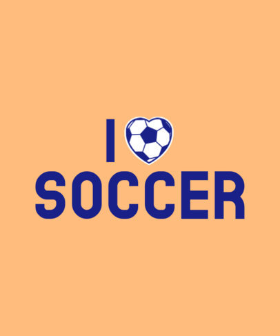 T-Shirt Design Creator for Soccer Fans with a Ball-Textured Heart a27h 3768