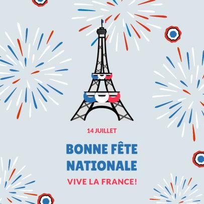 Instagram Post Design Maker to Celebrate Bastille Day 3772