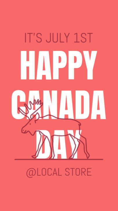 Instagram Story Maker for Canada Day 3779