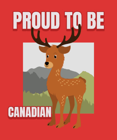 Illustrated T-Shirt Design Generator for Canada Day with a Friendly Moose 3774c