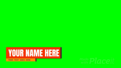 Animated Lower Third Banner Video Maker with a Bold Typography 3018-el1