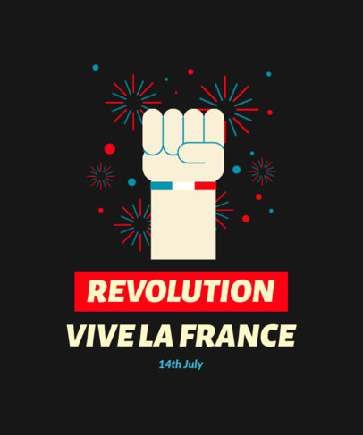 T-Shirt Design Template to Celebrate National France Day 3770d
