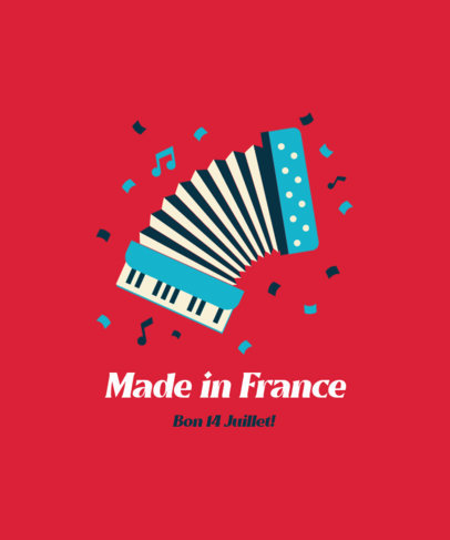 Holiday T-Shirt Design Generator for a French Celebration 3770g