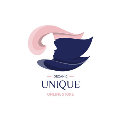 Beauty Logo Maker with Minimalistic Graphics of Women's Faces 4059-el1