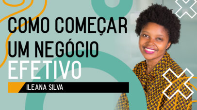 YouTube Thumbnail Design Template for Business Content in Portuguese 4073b-el1