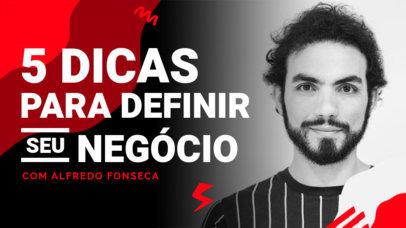 Portuguese YouTube Thumbnail Design Creator for a Marketing Channel 4071f-el1