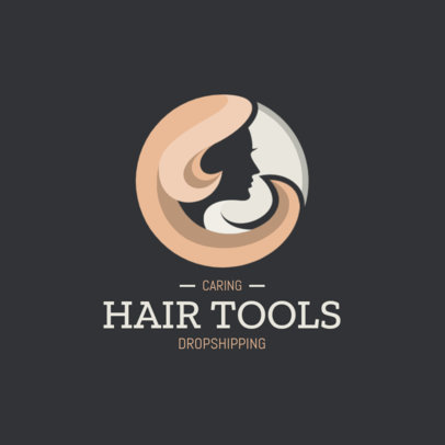 Dropshipping Logo Creator for a Brand of Hair Products 4059a-el1