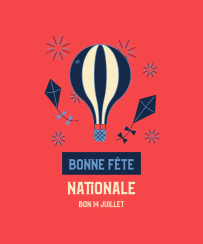 Bastille Day-Inspired T-Shirt Design Maker with a Festive Graphic 3770e