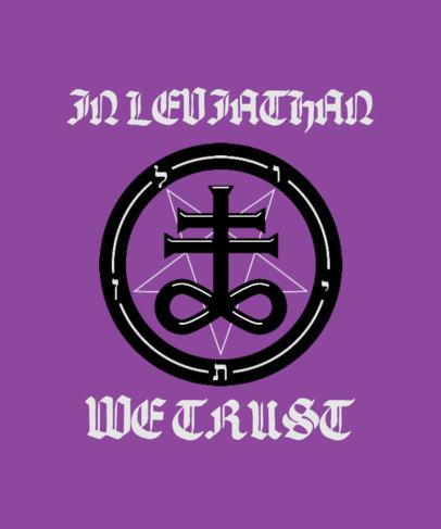 Mystical T-Shirt Design Maker with a Leviathan Symbol 3764c