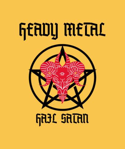 T-Shirt Design Maker Featuring Satanism-Themed Graphics 3764h