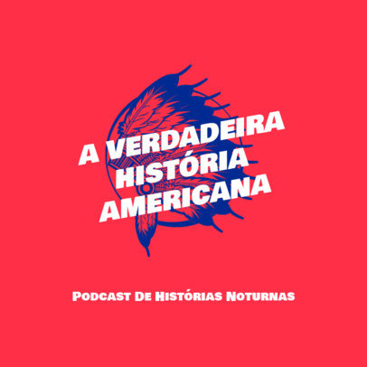 Podcast Cover Generator for a Show About American History 4413e