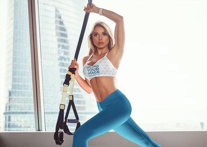 Sports Bra Mockup of a Woman Doing Acrobatic Workout 38545-r-el2