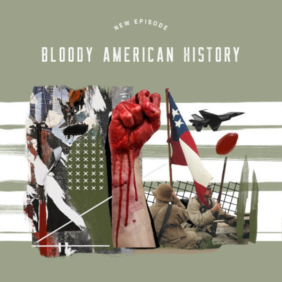 History Podcast Cover Maker for an America's Chronological War Narration 4411l