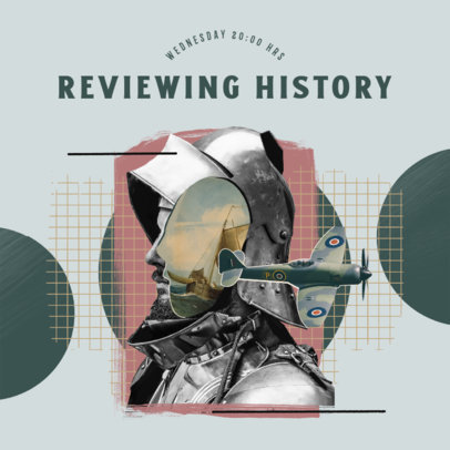 Podcast Cover Template for a History Review Episode 4411o