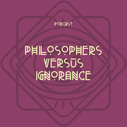 Philosophy Podcast Cover Maker Featuring an Abstract Background 4415f