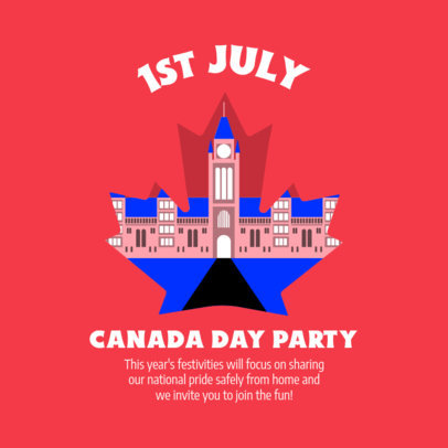 Canada Day-Themed Instagram Post Creator with a Maple Leaf Graphic 3776c
