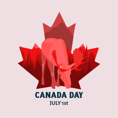 Canada Day-Themed Instagram Post Generator with a Moose Graphic 3776d