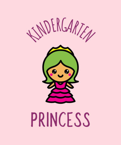 T-Shirt Design Generator With a Cute Princess Illustration 37e