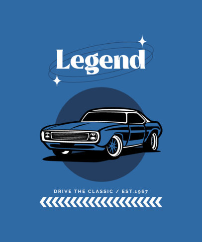 Automotive-Themed T-Shirt Design Creator With a Muscle Car Graphic 4100c-el1