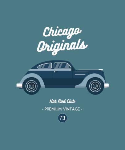 T-Shirt Design Creator Featuring a Vintage Vehicle Graphic 4098c-el1