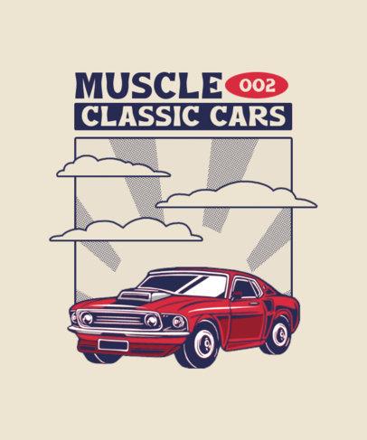 Retro T-Shirt Design Maker Featuring a Muscle Car Illustration 4096-el1