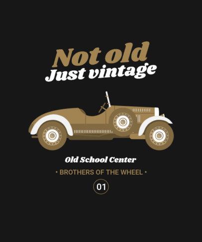 T-Shirt Design Maker with Illustrated Vintage Automobiles 4098a-el1