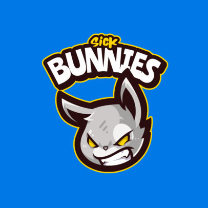 Logo Maker for Gamers Featuring an Aggressive Bunny Head 4110a-el1