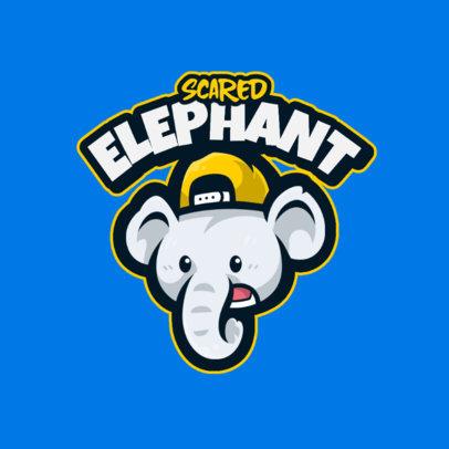 Logo Maker Featuring a Scared Elephant Cartoon 4108a-el1