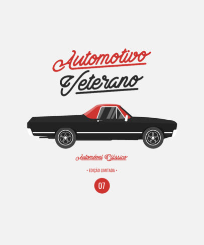 T-Shirt Design Generator with a Limited Edition Muscle Car 4098d-el1