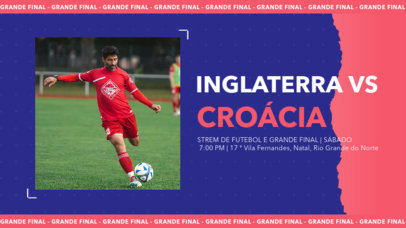 YouTube Thumbnail Design Generator for a Soccer Match 3785d
