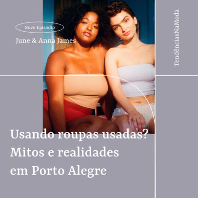 Podcast Cover Creator for a Fashion-Themed Brazilian Production 4078f-el1