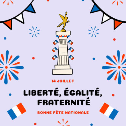 Instagram Post Generator to Commemorate Bastille Day 3772e