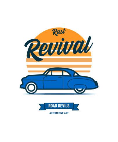 Automotive T-Shirt Design Creator with a Classic Car Graphic 4104b-el1