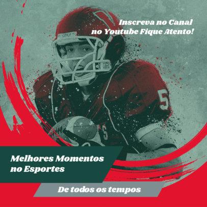 Football-Themed Instagram Post Design Maker for Sports Content Creators 3784e