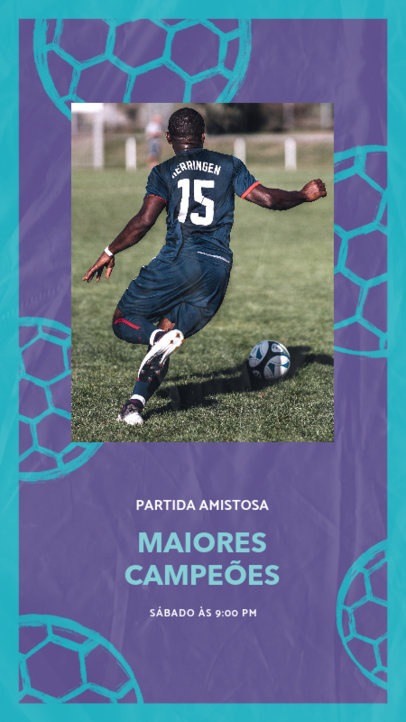 Instagram Story Maker with a Friendly Soccer Match Picture 3783a