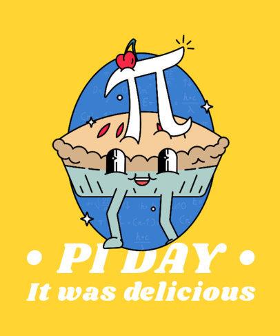 Cartoonish T-Shirt Design Creator Featuring a Pi Symbol on a Cherry Pie 3792c