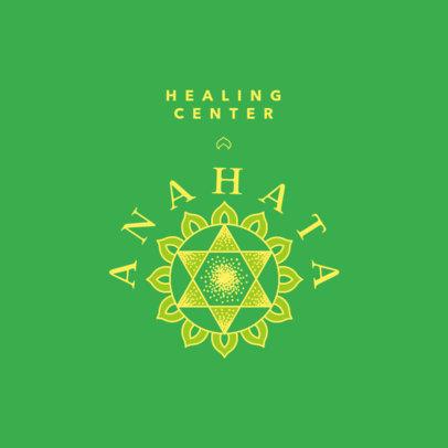 Healing Center Logo Template Featuring an Illustrated Metaphysics Symbol 4421h