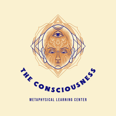 Illustrated Logo Maker for a Metaphysical Learning Center 4420c