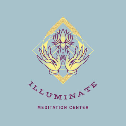 Logo Maker for a Meditation Center With a Metaphysical Style 4420f