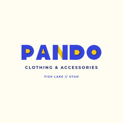 Clothing Brand Logo Maker Featuring Layered Letters 4446