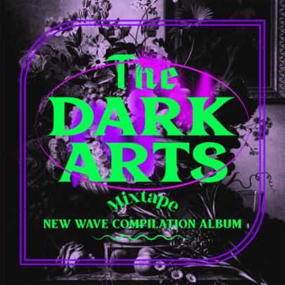 Mixtape Cover Template for a New Wave Music Compilation 4450b