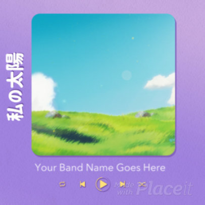Instagram Post Video Generator Featuring an Anime Theme and a Music Player UI 3530