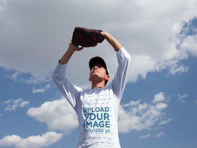 Baseball Uniform Designer - Boy Catching the Ball Outdoors a16370