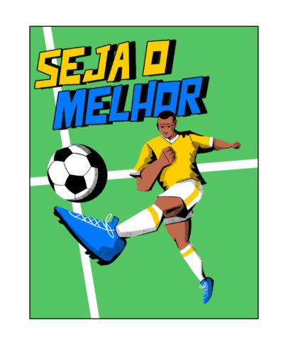 T-Shirt Design Creator Featuring a Soccer Illustration 4128a